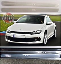 VW Scirocco 08> TSI Stainless Steel Kick Plate Car Door Sill Protectors 2pce Set