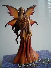 STUNNING FAIRY SITE FAERIE AUTUMN QUEEN  BY AMY BROWN NEW &  BOXED