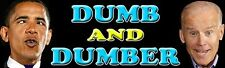 Dumb and Dumber /Obama Biden Anti-Obama Political Republican Bumper Sticker 920