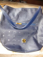 "Authentic  *MCM* - SHOPPER  ""SALLY"" in  navy blue  ----  excellent  condition"