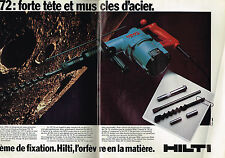 PUBLICITE ADVERTISING 054  1980  HILTI  outillage   TE 72 ( 2 pages)