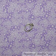 BonEful Fabric FQ Cotton Quilt Purple White Spring Sm Butterfly Polka Dot Calico