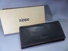 ZIPPO Blague à tabac / Sac à rouler - Cuir avec couture rouge - & - 628905