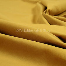 10 Metres Of Soft Textured Pattern Gold Yellow Velvet Upholstery Curtains Fabric