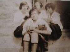 ANTIQUE AFRICAN AMERICAN FLAPPER GIRLS IN or KY SOFT MAGICAL STOCKING CAR PHOTOS