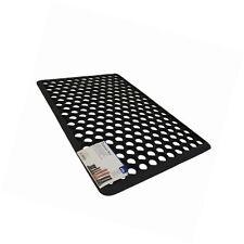 JVL Honeycomb Outdoor Rubber Ring Entrance Floor Door Mat, Black 60cm x 40cm