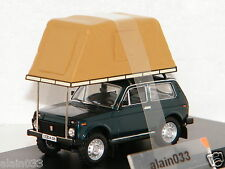 LADA NIVA Whith roof tent 1981 Green ISTMODELS 1/43 Ref IST296MR