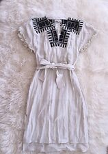 Madewell JCrew Embroidered Paradise Dress in Stone NWT $158 Sz Xs #f3398 CURRENT