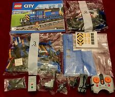 Lego City Blue Cargo Freight Train With Full Power Functions - From Set 60052
