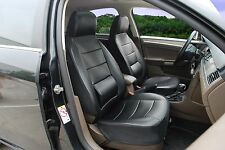 Leather like Car Seat Covers with Lumbar Support for Mercury-ME 250 Black