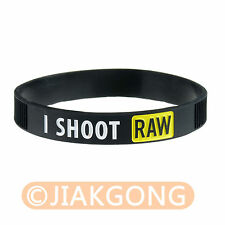 I Shoot Raw Photography Yellow Silicone bracelet Photographer's Wristband