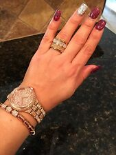 $125 NWT Michael Kors MKJ1907 9317 Crystal Barrel Ring 7 BLING CHRISTMAS