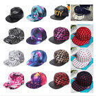 Fashion Men Women Bboy Hip-Hop Visor Flat Hat Snapback Baseball Cap Adjustable