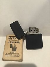 1943-45 WWII black crackle zippo lighter new with box
