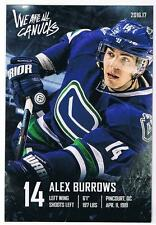 """2016-17 Vancouver Canucks Team Issued 4""""x6"""" Card - Alex Burrows"""
