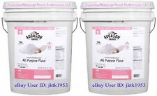 TWO AUGASON FARMS EMERGENCY FOOD ENRICHED UNBLEACHED  FLOUR SIX  GALLON PAILS