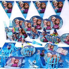 89Pcs Disney FROZEN Girls Kids Birthday Party Supply Sets Tableware Decoration