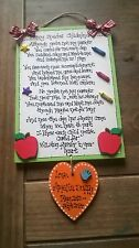 Handmade Wooden LARGE CHILDMINDER colourful plaque - gift