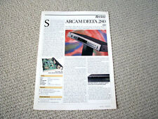 Arcam Alpha 5 / Delta 280 radio tuner review reprint