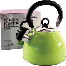 Prima 2.5L Stainless Steel Whistling Kettle in Green 11123C new hobs stove top