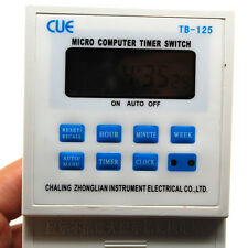 220V 25A TIME CLOCK LCD DIGITAL MICRO COMPUTER PROGRAMMABLE TIMER SWITCH RELAY