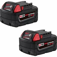 New Milwaukee 48-11-1852 M18 18V 18 Volt 5.0Ah Extended Capacity Battery 2 pack