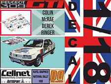 DECAL 1/18 PEUGEOT 309 GTI COLIN MCRAE NATIONAL RALLY 1988 (03)