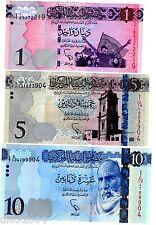 LOT SET SERIE 3 Billets Libye Libya  Dinars 2015 NEW NOUVEAU  NEUF UNC
