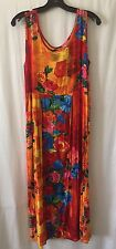 JAMS WORLD Multicolored Floral Print Dress Sz M