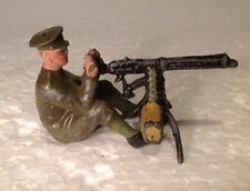 Britains Ltd Sitting Machine Gunner (my ref Y398A) Soldier