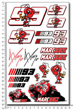 Marquez 93 aufkleber set decal moto gp 16x26 cm. 20 stickers Repsol Honda