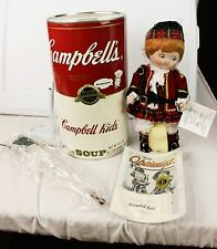 Vintage Campbell's Soup Kids Bagpiper CK-15 Porcelain Doll In Can With COA 1994