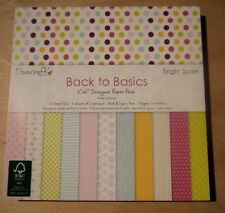 """Dovecraft back to basics, Bright Spark, 12 sheets, 6"""" x 6"""", 150 gsm"""