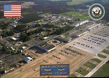 NAS Oceana Master Jet Base Virginia Beach VA, Navy, Aircraft - Military Postcard