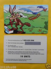 cartes telephone telefonkarte phone cards 10 units willy coyote wile coyote beep