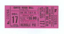 Humble Pie Ticket 1972 Dec 17 Curtis Hixon Hall Tampa FL Unused