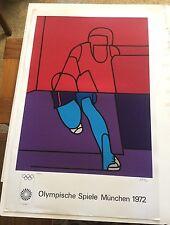 Valerio Adami, Original Signed Serigraph Olympics Poster 1972 173/200