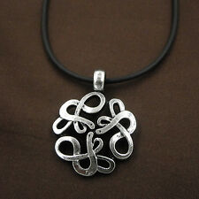 Alchemy Snake Totem Talisman Amulet Pewter Pendant Leather Chain Necklace