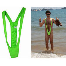 Lime Green Borat Mankini Man Thong Stag Do Fancy Dress Costume Secret Santa Gift
