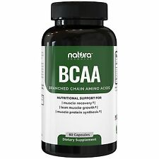 Natura BCAA Chain Amino Acids 1600MG Muscle Recovery Supplement 60 ct. NEW