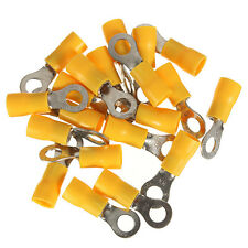 20pcs Yellow Ring Insulated Wire Connector Electrical Crimp Terminal 12-10AWG M5