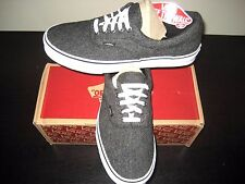 Vans Era Mens Tweed Black True White Skate/ boat shoes size 11 VN0003Z52H3 NWT