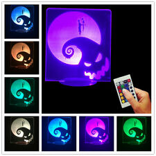 Nightmare Before Christmas Jack and Sally 3D USB Color Changing Lamp LED Light