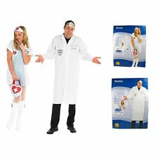 Doctor & Nurse Fancy Dress Costumes Couples Scrubs Uniform Medium