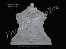 THE BEST CARVED MARBLE FIGURAL WALL RELIEF FDR0046