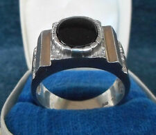 VINTAGE! GERMAN ELITE TROOPS STERLING SILVER RING with ONYX