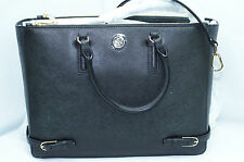 Tory Burch Robinson Multi Tote Black Bag Satchel Saffiano Shoulder Handbag NWT