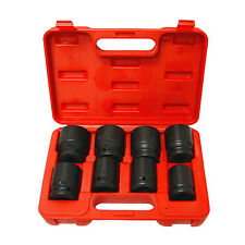 "9pc GRIP 3/4"" Shallow SAE 6pt Impact Sockets Set 1"" 1 1/2"" Drive STD INCH 73586"