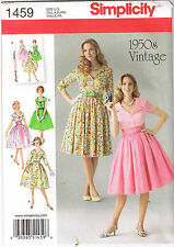 Vintage Retro 50s Rockabilly Lapel Collar Dress Sewing Pattern Sz 16 18 20 22 24