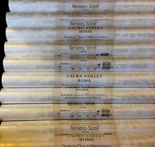 Laura Ashley Berkeley Scroll White Wallpaper Rolls Price Per Roll - 10 Available
